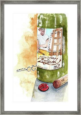 Wine Bottle Still Life- M2 Zinfandel Framed Print