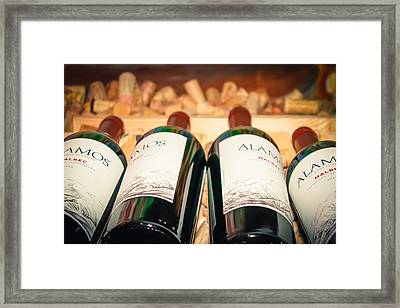 Wine Bottles Framed Print by Colleen Kammerer