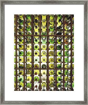 Wine Bottles Framed Print by Greg  West