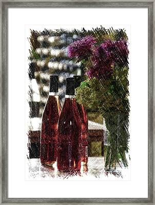 Wine Bottles Pa Vertical Framed Print