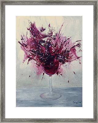 Wine Bouquet Framed Print by T Fry-Green