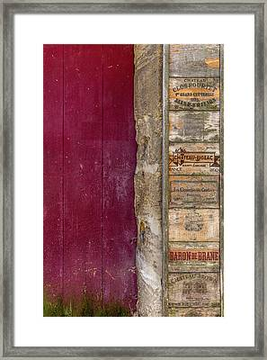 Wine Box Door Framed Print by Georgia Fowler