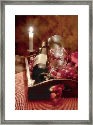 Wine By Candle Light II Framed Print by Tom Mc Nemar