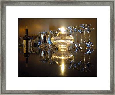 Wine By Candle Light Framed Print
