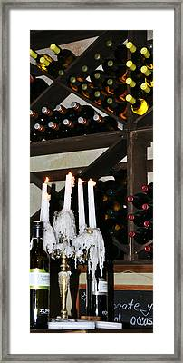 Wine By Candlelight Framed Print by Rose  Hill