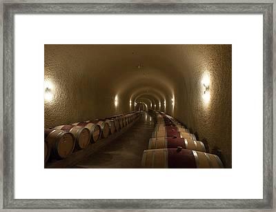 Wine Cave-3 Framed Print