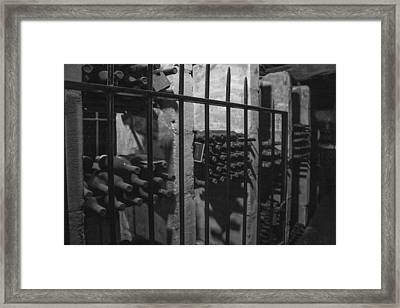 Wine Cellar Bottles Framed Print
