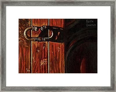Wine Cellar Door Framed Print