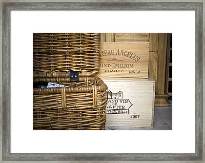 Wine Cellar Framed Print by Frank Tschakert