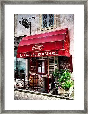 Wine Cellar In Beaune France Framed Print