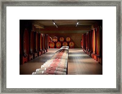 Wine Cellar In Montalcino Framed Print