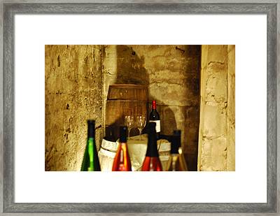 Wine Cellar Framed Print by Peter  McIntosh