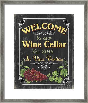 Wine Cellar Sign 1 Framed Print by Debbie DeWitt