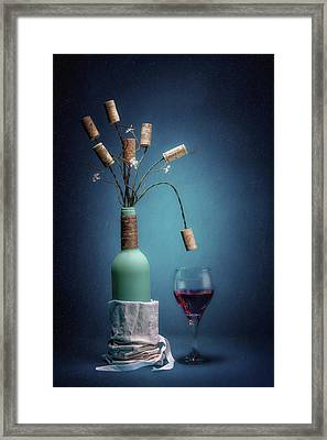 Wine Cork Bouquet Framed Print by Tom Mc Nemar