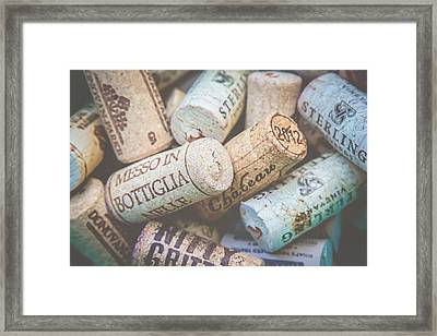 Wine Corks Framed Print by April Reppucci
