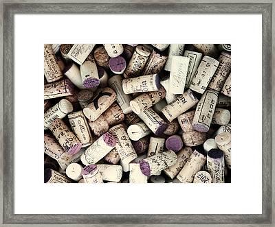 Wine Corks Framed Print by Bedros Awak