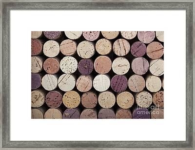 Wine Corks  Framed Print by Jane Rix