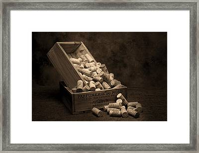 Wine Corks Still Life I Framed Print by Tom Mc Nemar