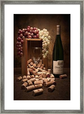 Wine Corks Still Life II Framed Print by Tom Mc Nemar