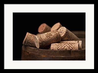 Wine Barrels Framed Prints