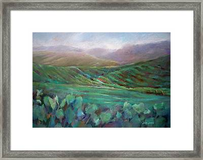 Wine Country - 1 Framed Print by Joan  Jones