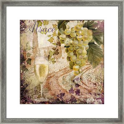 Wine Country Alsace Framed Print by Mindy Sommers