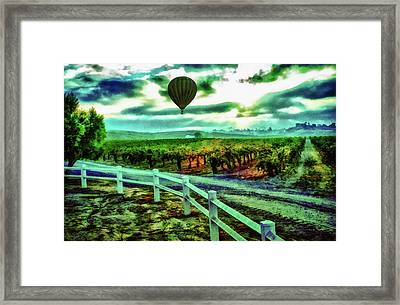 Wine Country Flight Framed Print