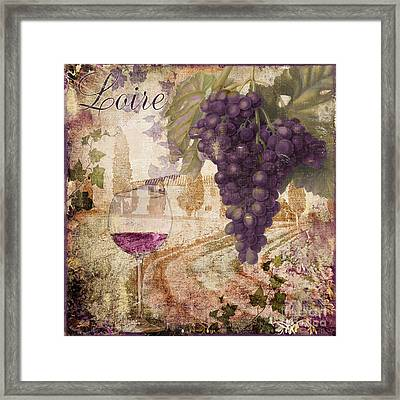 Wine Country Loire Framed Print