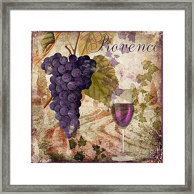 Wine Country Provence Framed Print by Mindy Sommers