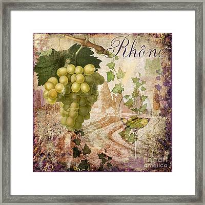 Wine Country Rhone Framed Print