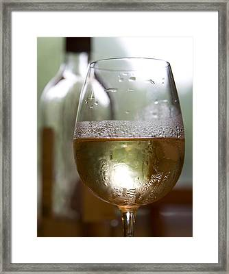 Wine Framed Print by Deborah Molitoris