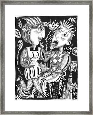 Wine Down Framed Print by Betty Wick