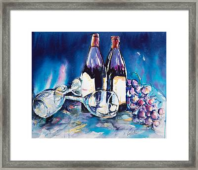 Wine For Two Framed Print by Adam VanHouten