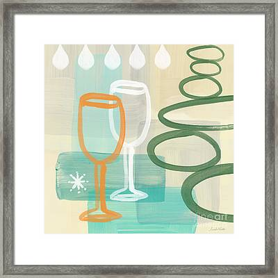 Wine For Two Framed Print by Linda Woods