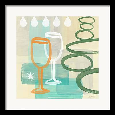 Wine-glass Mixed Media Framed Prints