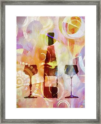 Wine For Two Framed Print by Lutz Baar
