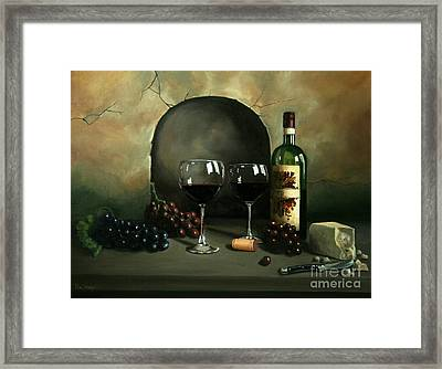 Wine For Two Framed Print by Paul Walsh