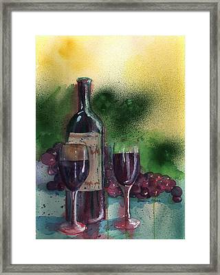 Wine For Two Framed Print by Sharon Mick