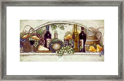 Wine Fruit N Cheese Pantry Framed Print
