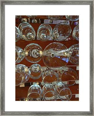 Wine Glass Abstract Framed Print by Denise Mazzocco