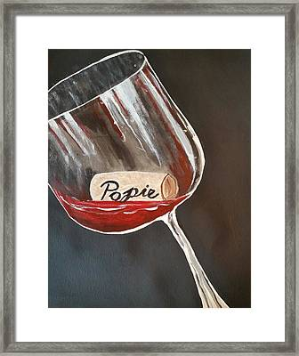Wine Glass Framed Print by Carol Duarte