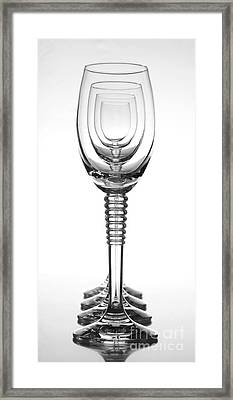 Wine Glasses Framed Print by Andreas Berheide