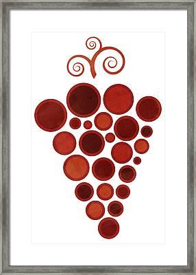 Wine Grape Framed Print by Frank Tschakert