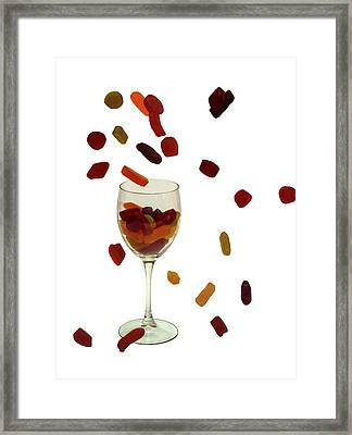 Framed Print featuring the photograph Wine Gums Sweets by David French