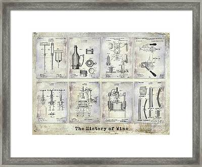 Wine History Patents Framed Print by Jon Neidert