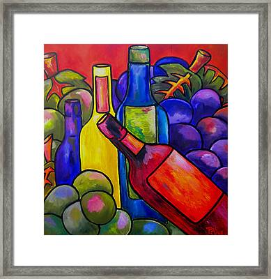 Wine In Orange Framed Print by Patti Schermerhorn