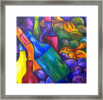 Wine In Purple Framed Print by Patti Schermerhorn
