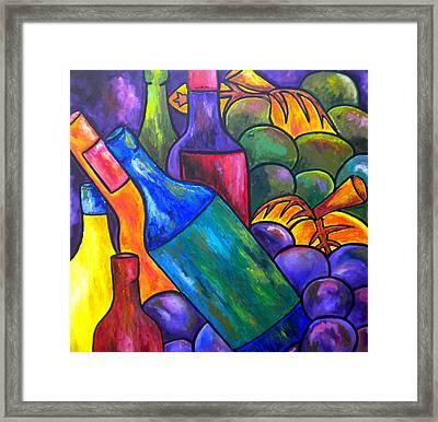 Wine In Purple Framed Print by Patti Schermerhorn