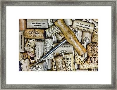 Wine Its Time To Celebrate Framed Print