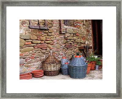 Wine Jugs Framed Print